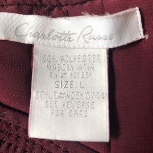 Charlotte Russe Tops - Charlotte Russe Wine Colored Sheer Blouse